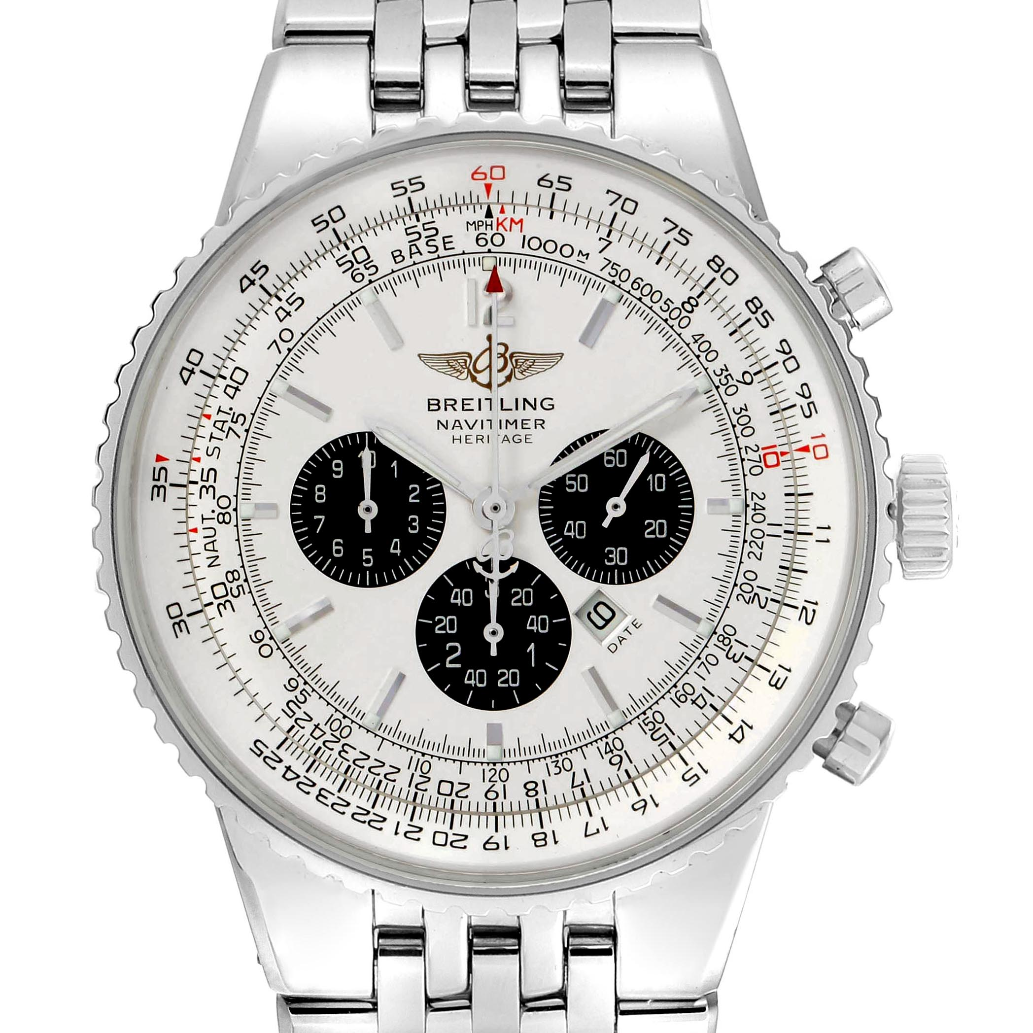 Breitling Navitimer Heritage Silver Dial Automatic Mens Watch A35340