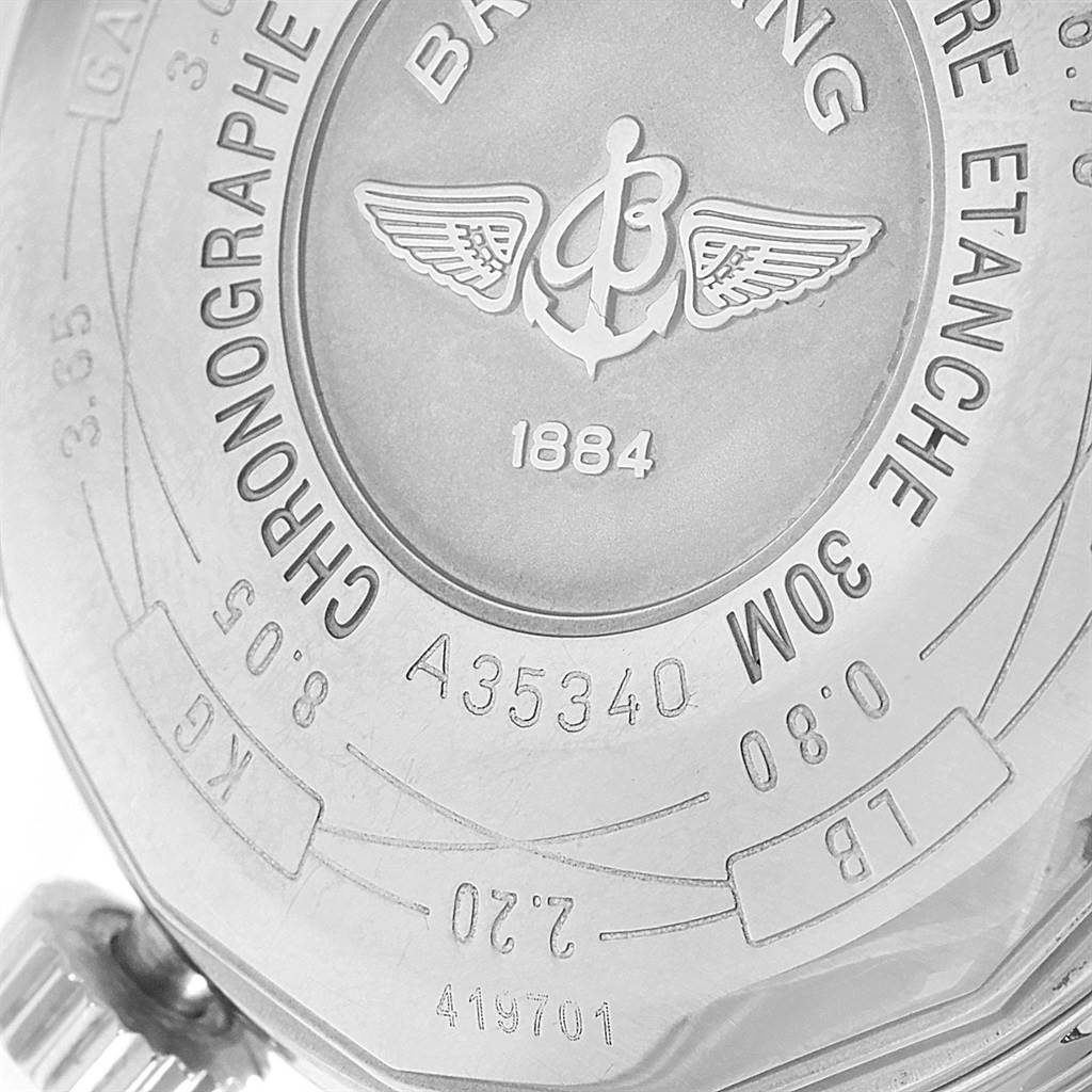 Breitling Navitimer Heritage Silver Dial Automatic Mens Watch A35340 SwissWatchExpo