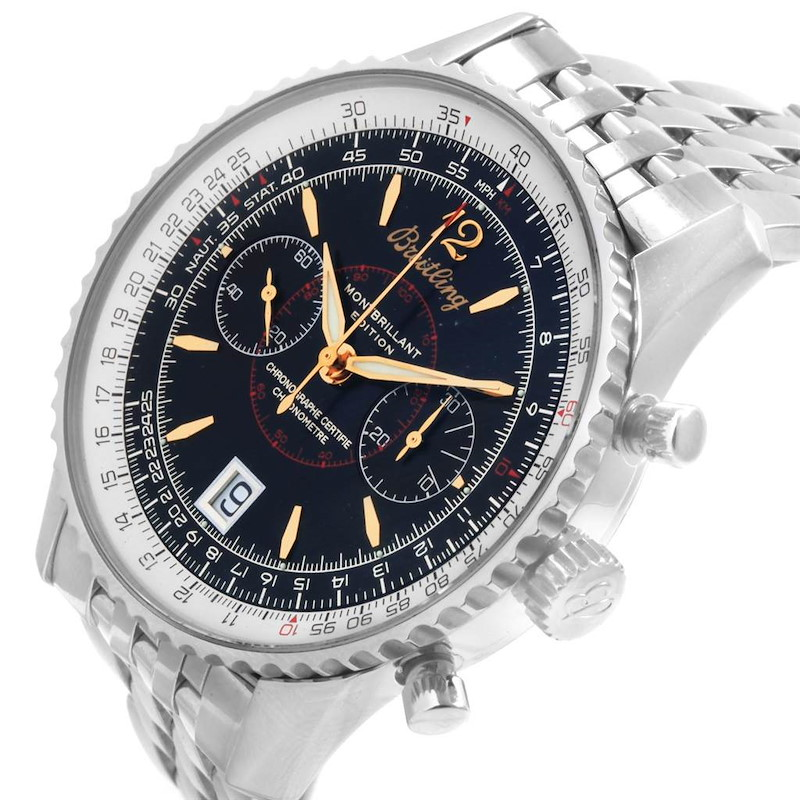 Breitling Montbrillant Edition Steel Mens Watch A48330 SwissWatchExpo