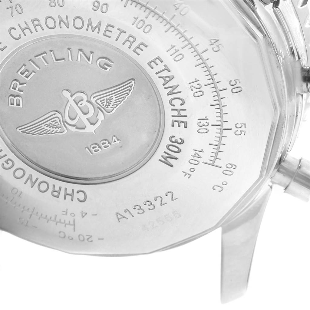 19542 Breitling Navitimer II Black Dial Chronograph Watch A13322 Box Papers SwissWatchExpo