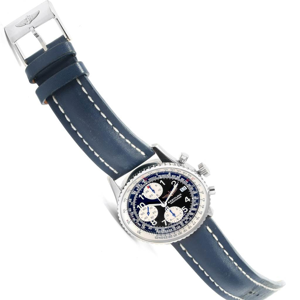 Breitling Navitimer II Black Dial Chronograph Watch A13322 Box Papers SwissWatchExpo