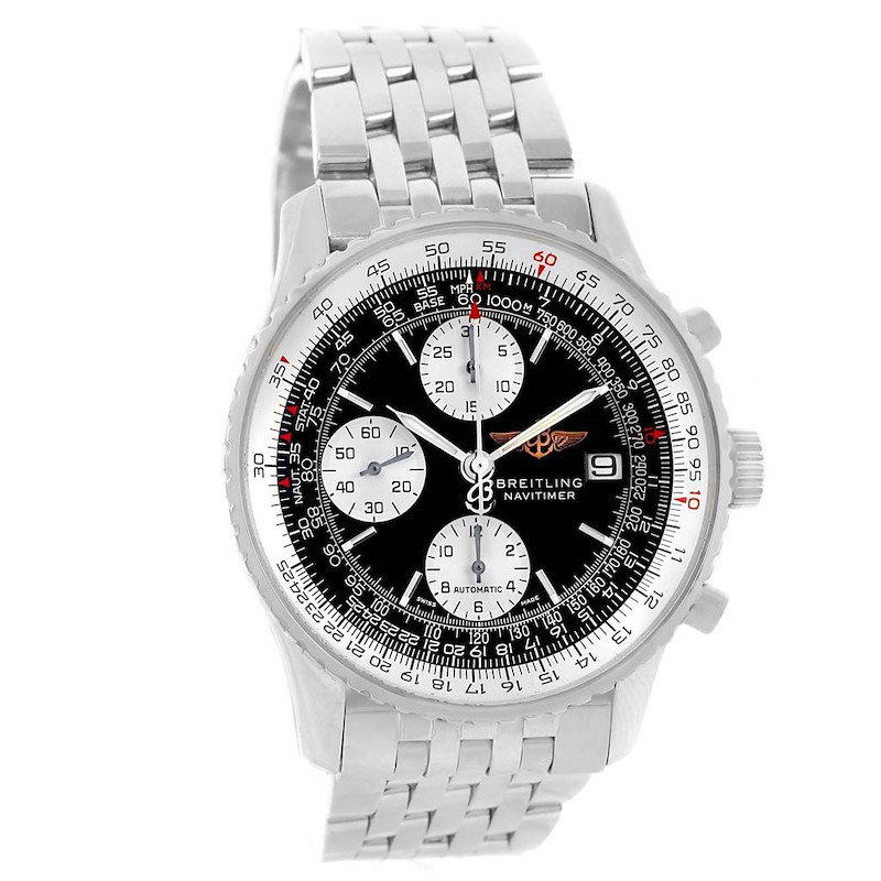 Breitling Navitimer II Black Dial Chronograph Mens Watch A13322 SwissWatchExpo