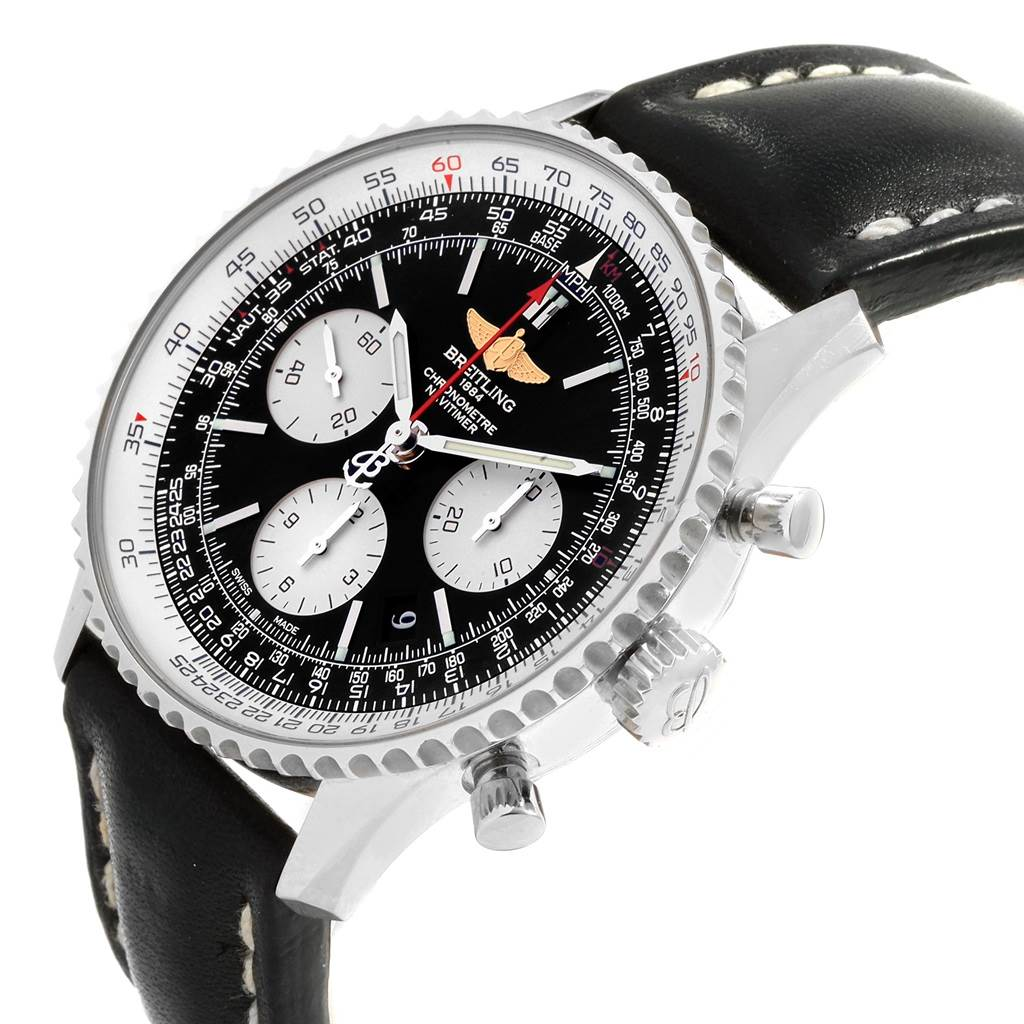 Breitling Navitimer 01 Black Dial Automatic Mens Watch AB0120 SwissWatchExpo