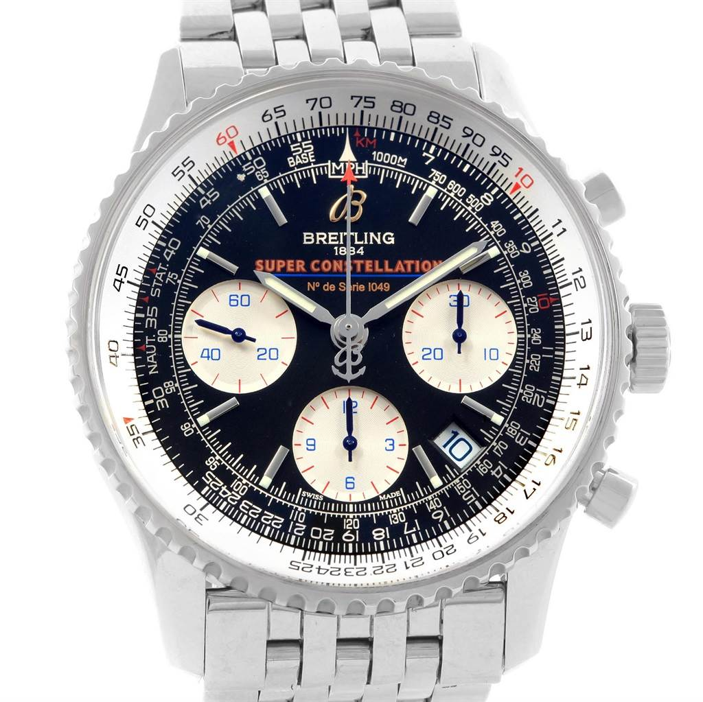 19854 Breitling Navitimer Super Constellation Limited Edition Watch A23322 SwissWatchExpo