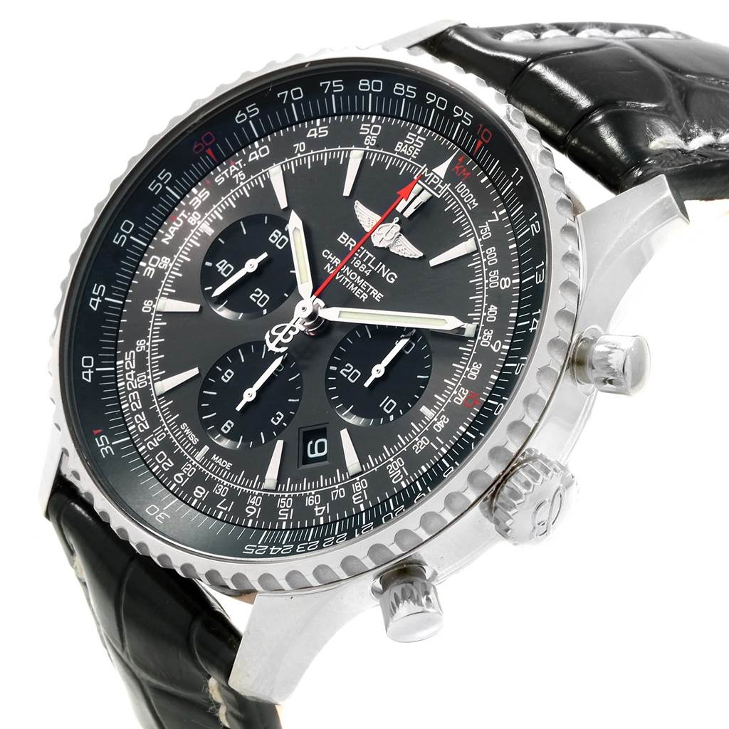 Breitling Navitimer 01 Stratos Gray Dial Limited Edition Watch AB0127 SwissWatchExpo