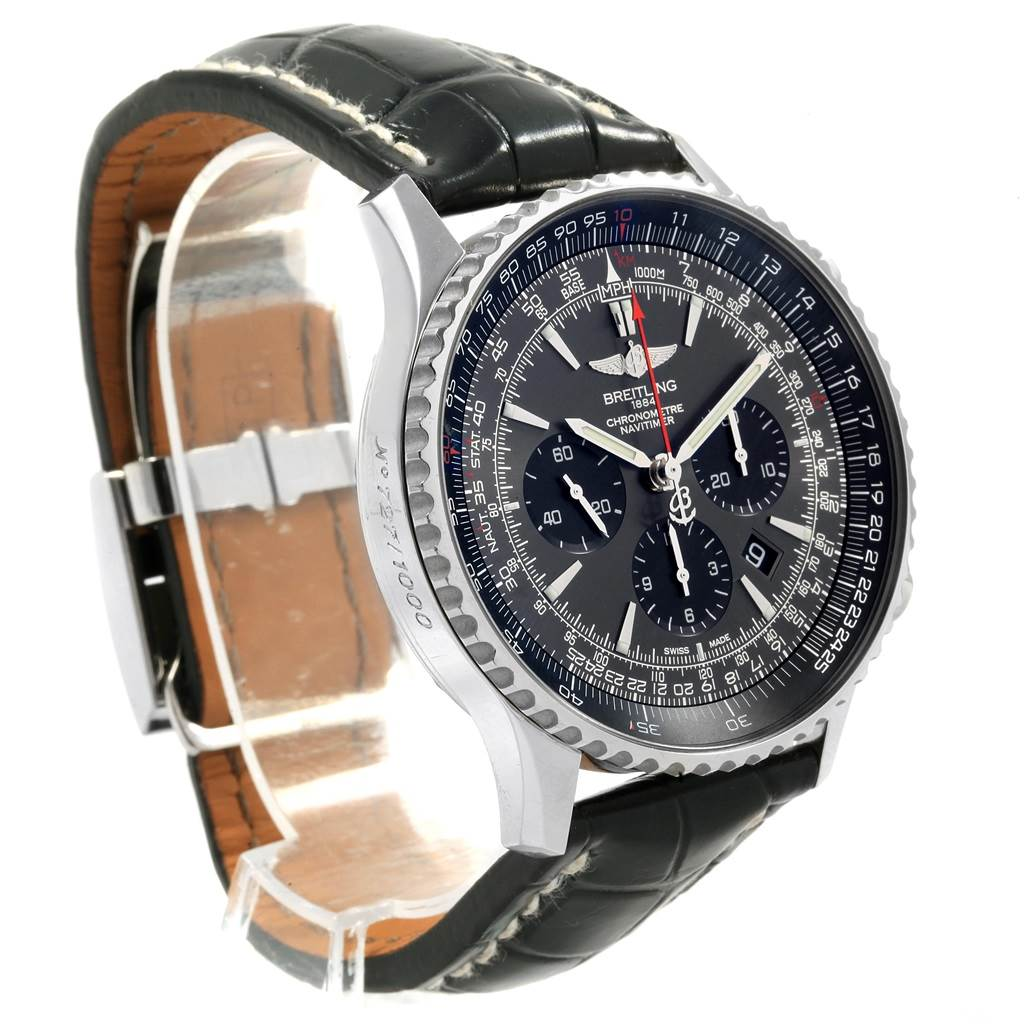 19988 Breitling Navitimer 01 Stratos Gray Dial Limited Edition Watch AB0127 SwissWatchExpo