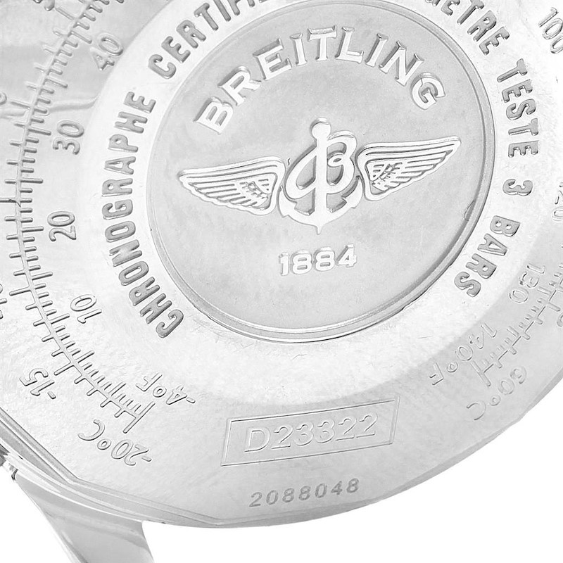 Breitling Navitimer Steel Yellow Gold Blue Dial Watch D23322 Box Papers SwissWatchExpo