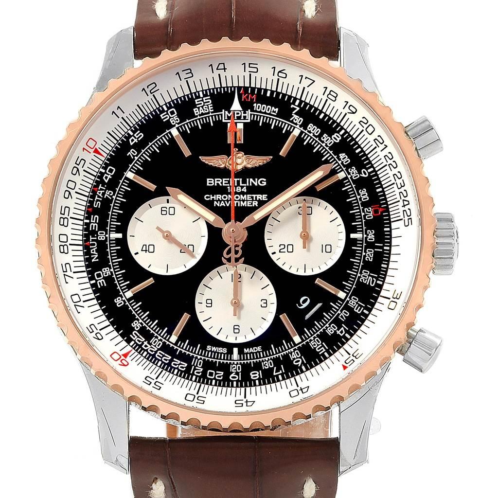 20439 Breitling Navitimer 01 46mm Steel Rose Gold Mens Watch UB0127 Unworn SwissWatchExpo