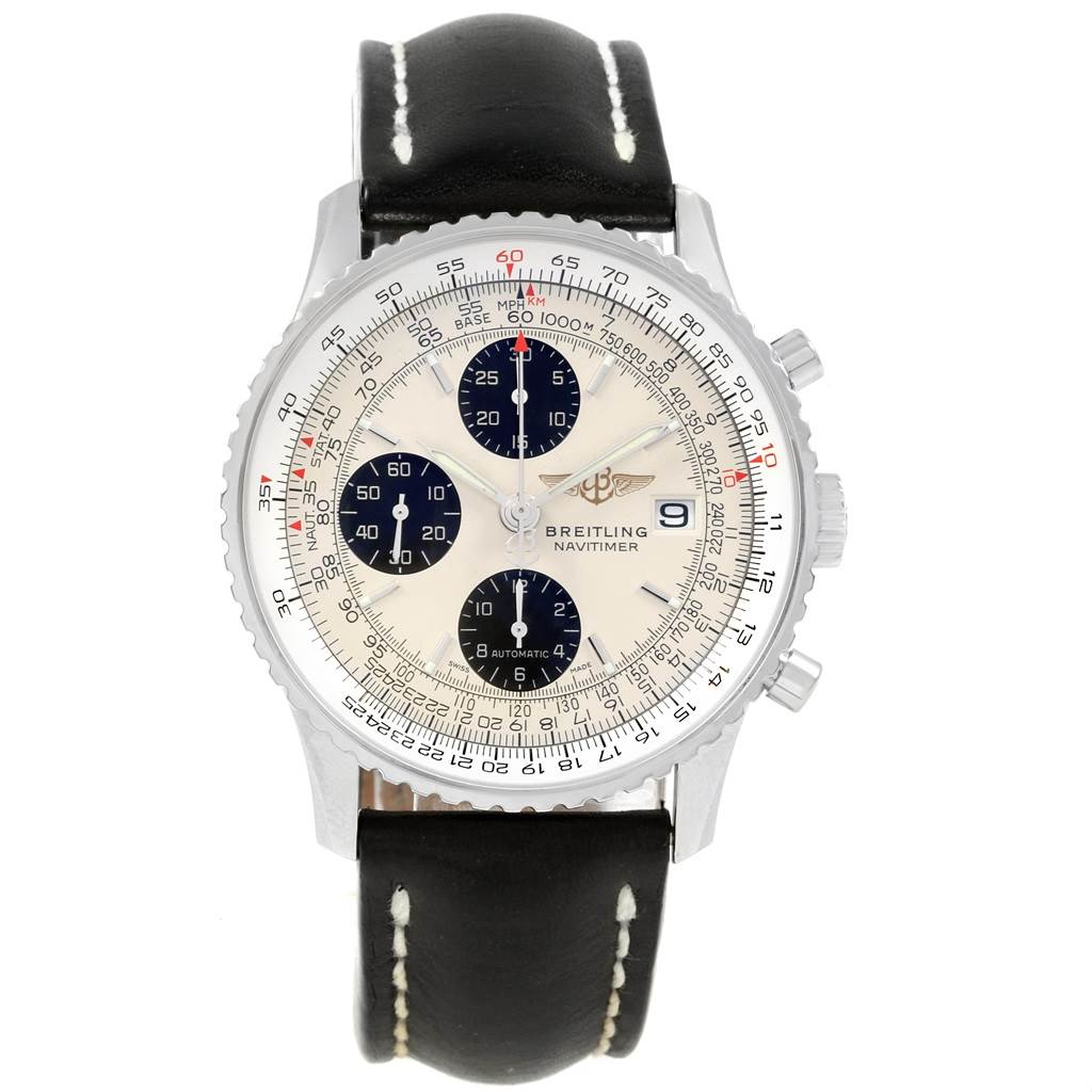 Breitling Navitimer Heritage Panda Dial Mens Watch A13324 Box Papers SwissWatchExpo