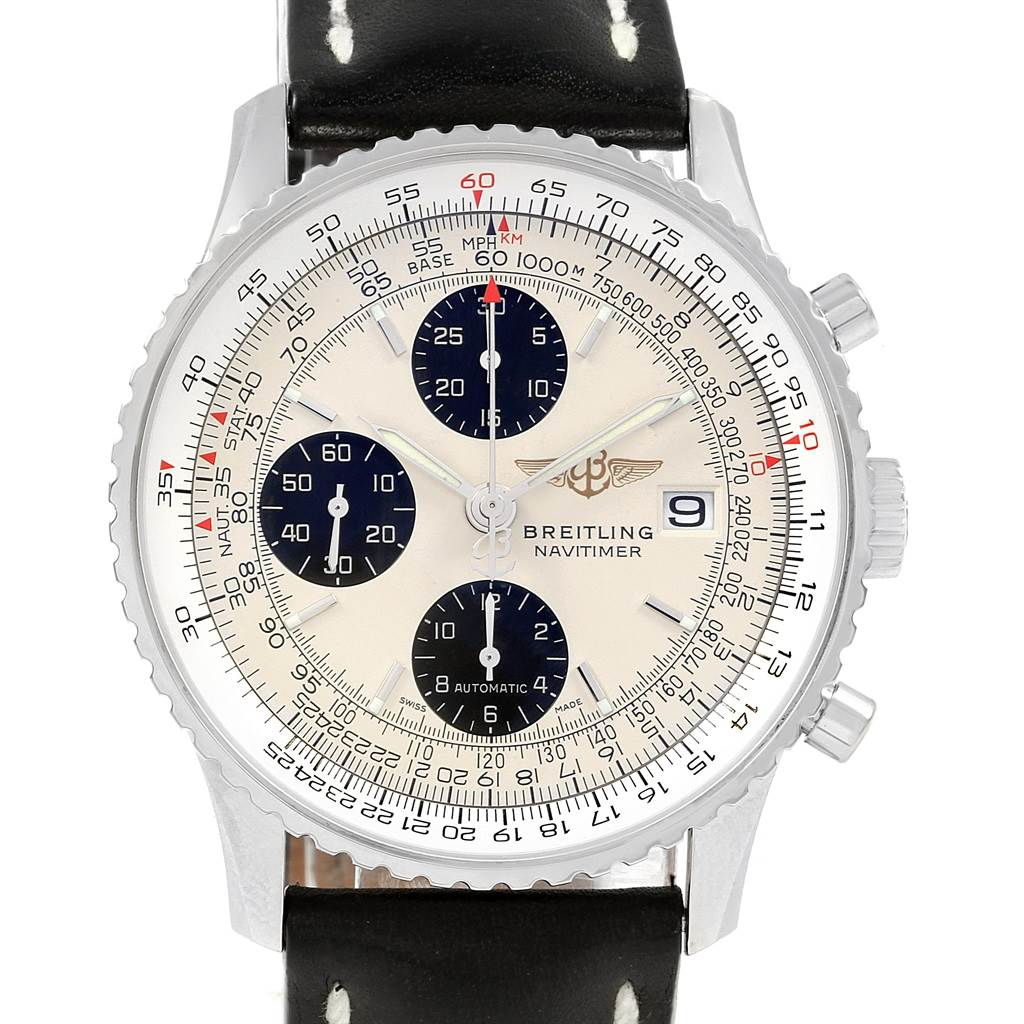 20541 Breitling Navitimer Heritage Panda Dial Mens Watch A13324 Box Papers SwissWatchExpo