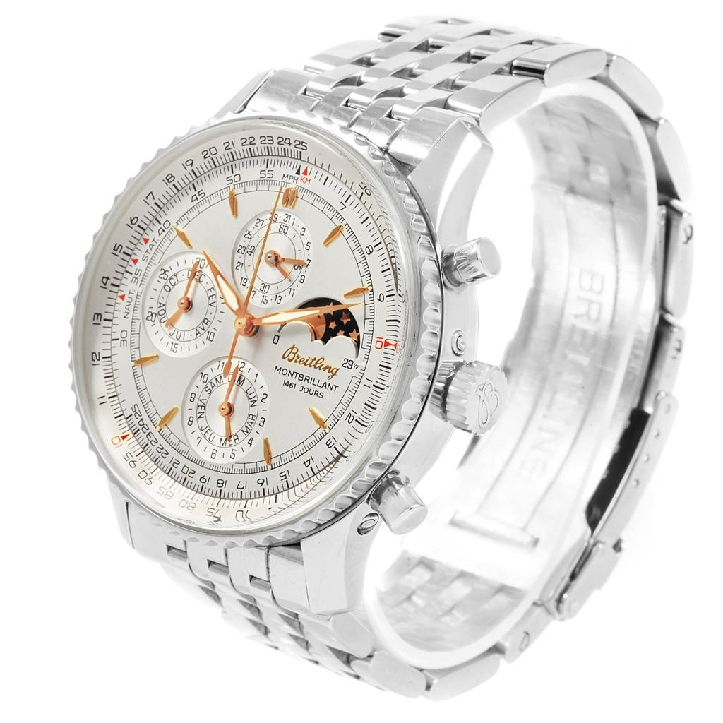 20752 Breitling Navitimer Monbrillant 1461 Jours Mens Moonphase Watch A19030 SwissWatchExpo