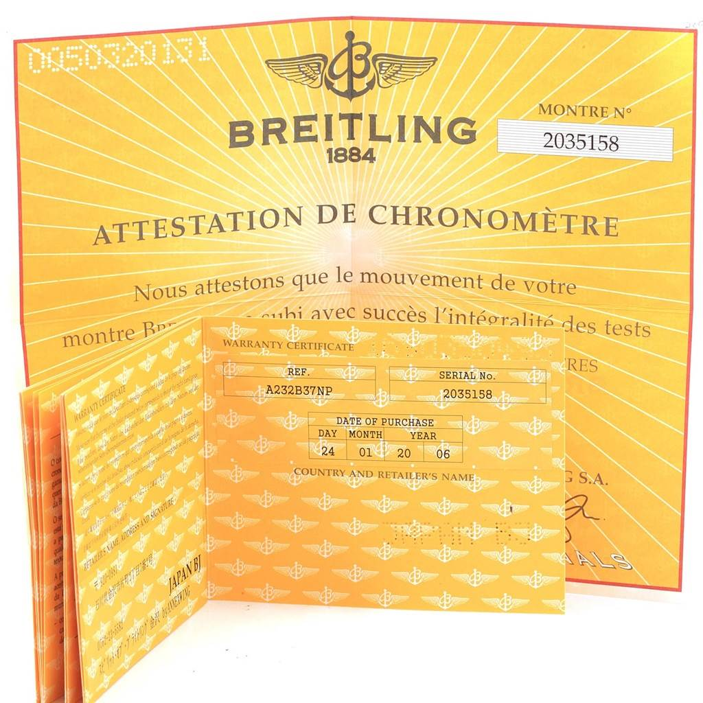 Breitling Navitimer Black Arabic Dial Steel Mens Watch A23322 Box Papers SwissWatchExpo