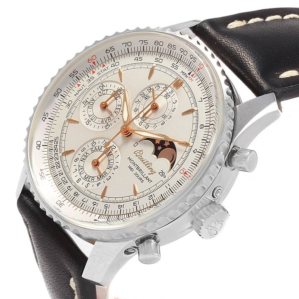 20931 Breitling Navitimer Monbrillant 1461 Jours Mens Moonphase Watch A19030 SwissWatchExpo