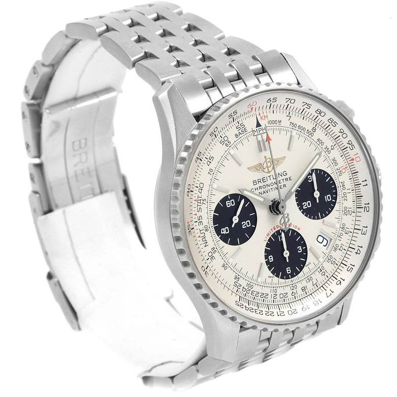 Breitling Navitimer Chronograph Panda Steel Mens Watch A23322 Box Papers SwissWatchExpo