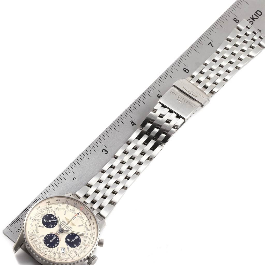 21311 Breitling Navitimer Chronograph Panda Steel Mens Watch A23322 Box Papers SwissWatchExpo