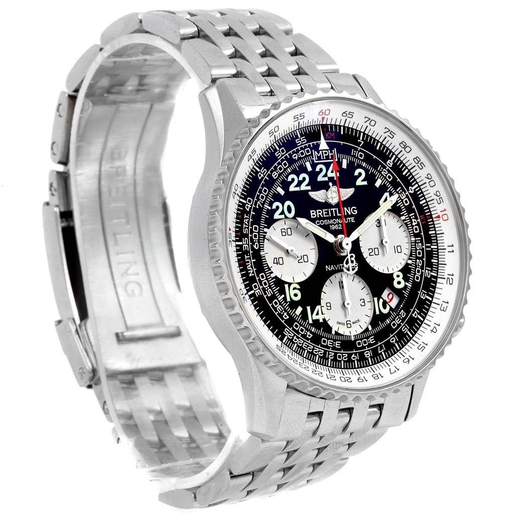 21390 Breitling Navitimer Cosmonaute 02 Limited Edition Mens Watch AB0210 SwissWatchExpo