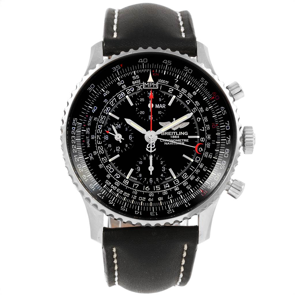 21458 Breitling Navitimer 1884 Limited Edition Mens Watch A21350 Box Papers SwissWatchExpo