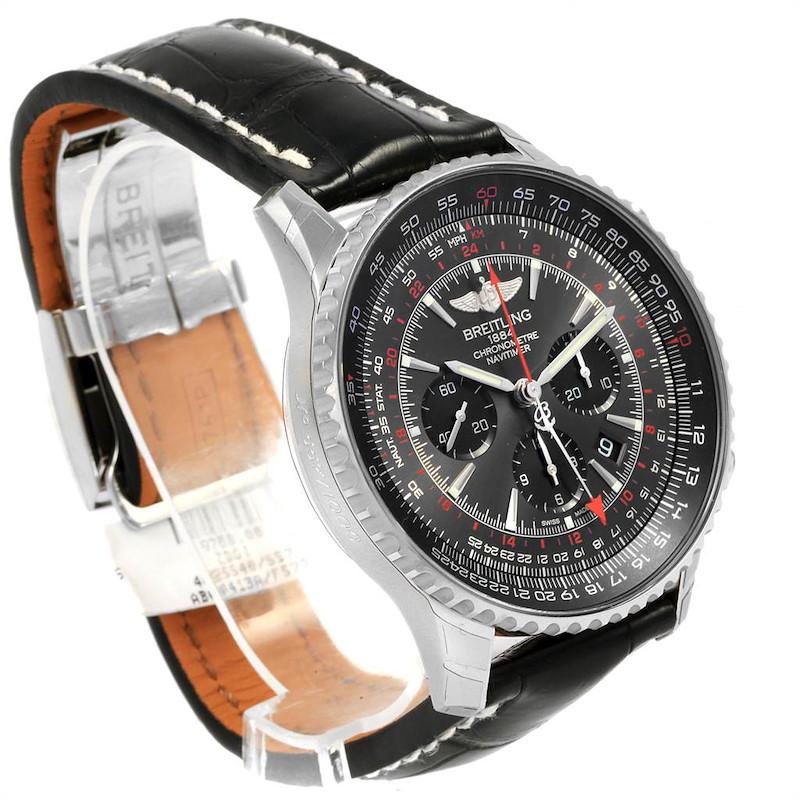 Breitling Navitimer GMT Stratos Grey Limited Edition Watch AB0441 Unworn SwissWatchExpo