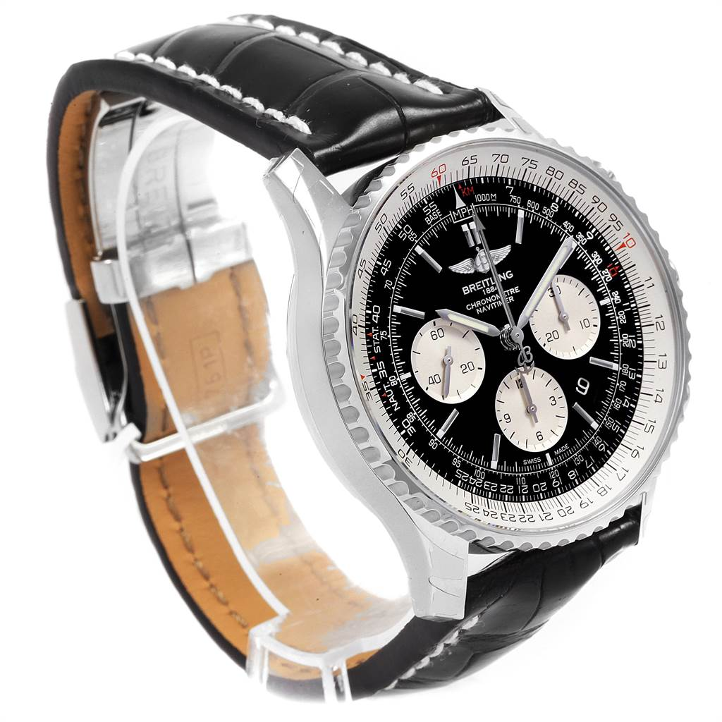 21680 Breitling Navitimer Rattrapante Chronograph Mens Watch AB0310 Unworn SwissWatchExpo