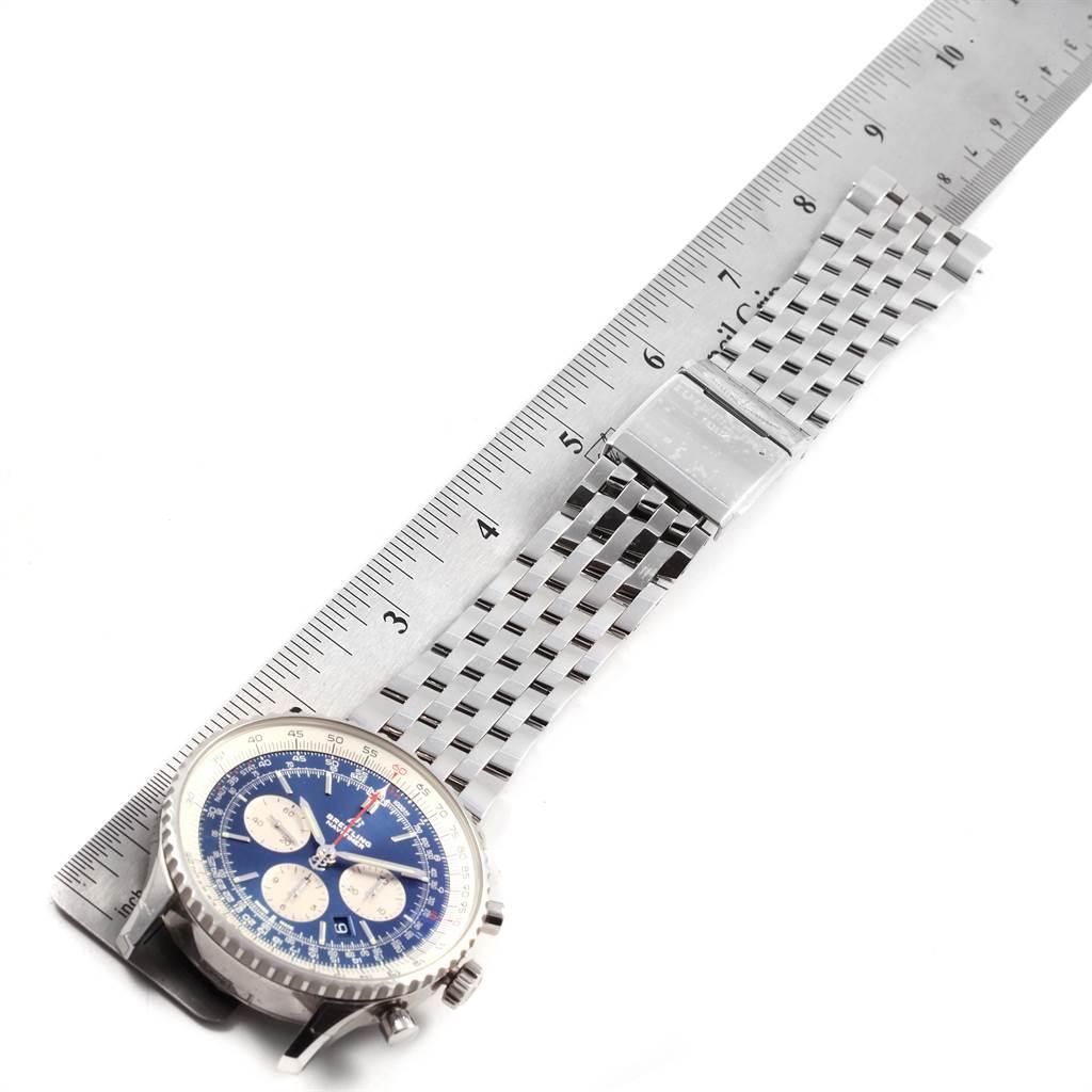 21769 Breitling Navitimer 01 46mm Aurora Blue Dial Mens Watch AB0127 Unworn SwissWatchExpo