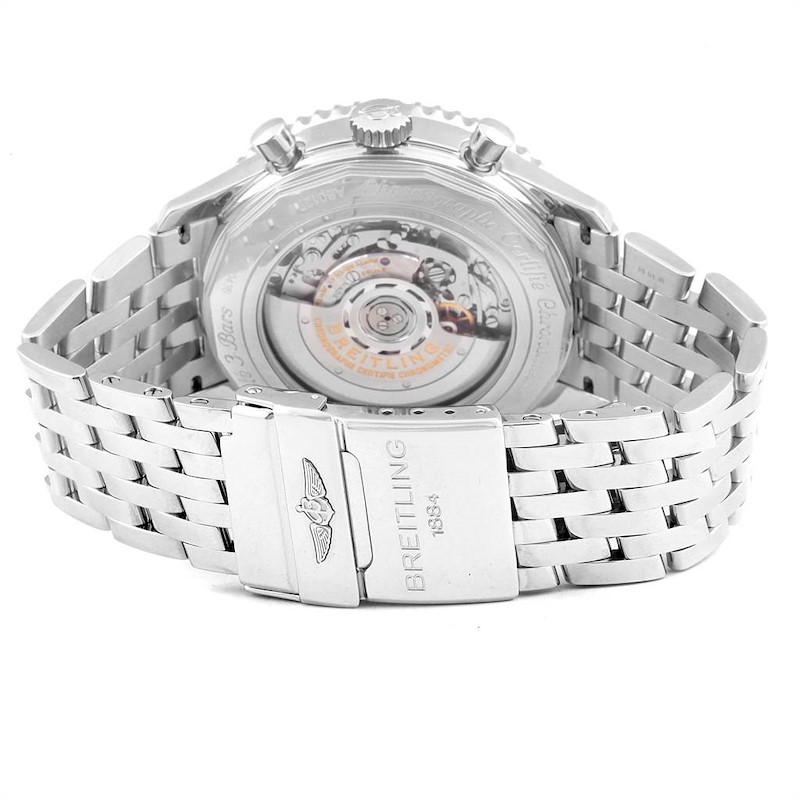 Breitling Navitimer 01 46mm Aurora Blue Dial Watch AB0127 Box SwissWatchExpo