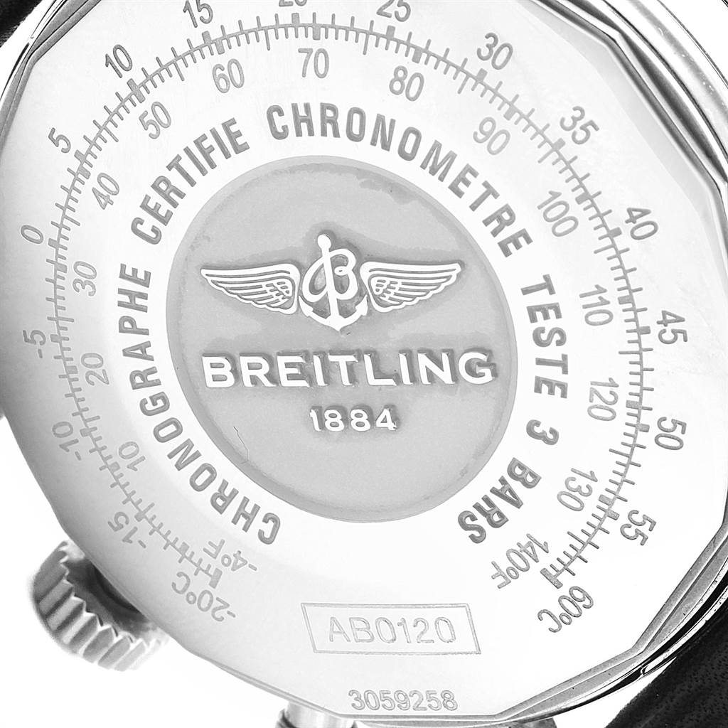 21594 Breitling Navitimer 01 Black Strap Automatic Mens Watch AB0120 SwissWatchExpo