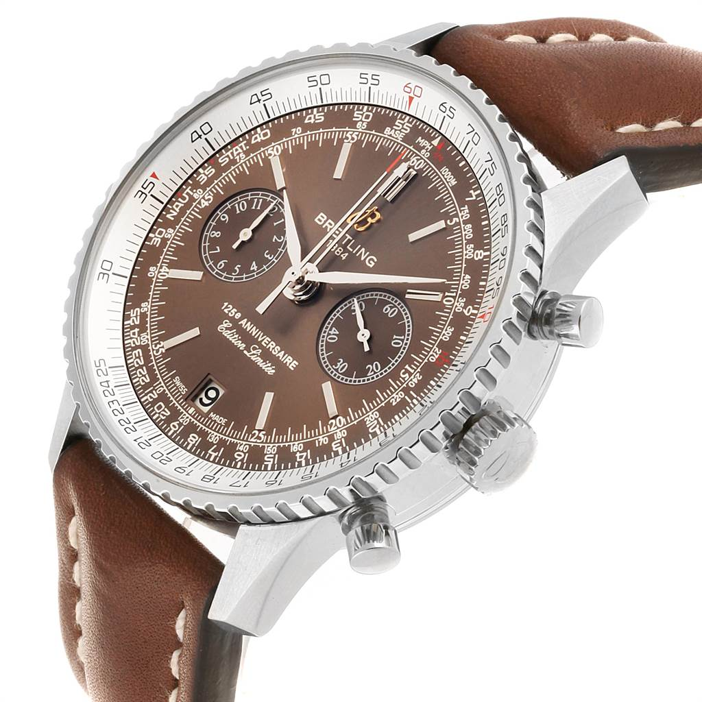 22019 Breitling Navitimer 125th Anniversary LE Mens Watch A26322 Box SwissWatchExpo