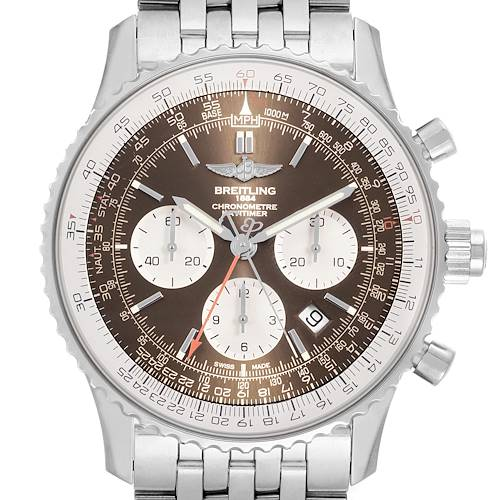 Photo of Breitling Navitimer Rattrapante Chronograph Mens Watch AB0310