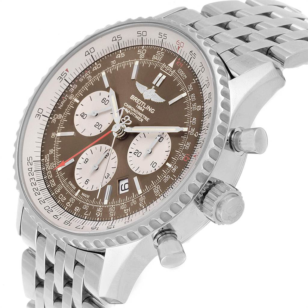 Breitling Navitimer Rattrapante Chronograph Mens Watch AB0310 SwissWatchExpo