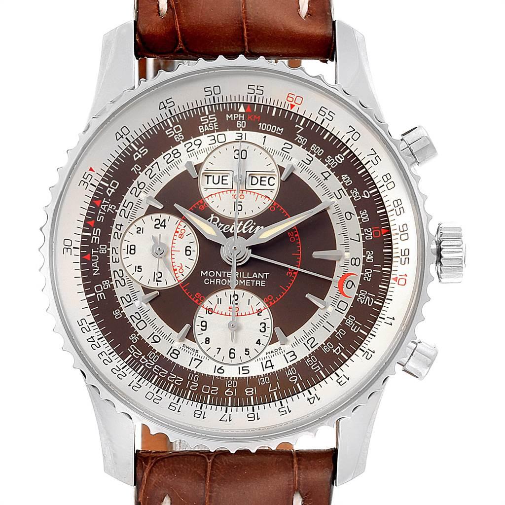 Breitling Navitimer Montbrillant Datora GMT Steel Watch A21330 Unworn SwissWatchExpo