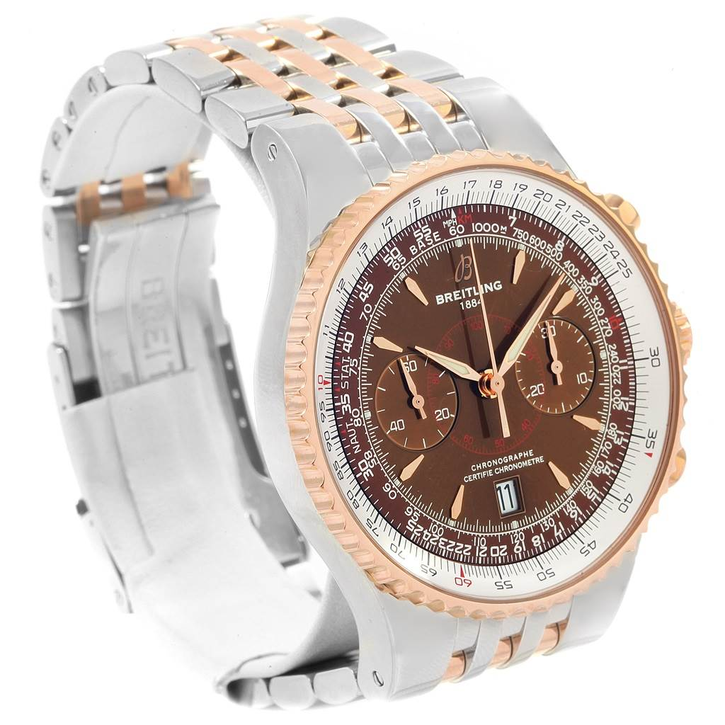 19852A Breitling Montbrillant Legende Steel Rose Gold Mens Watch C23340 SwissWatchExpo