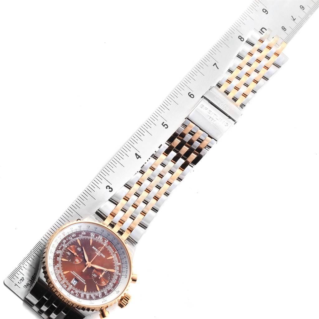 19852A Breitling Montbrillant Legende Steel Rose Gold Mens Watch C23340 SwissWatchExpo