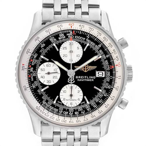 Photo of Breitling Navitimer II Black Dial Chronograph Mens Watch A13322