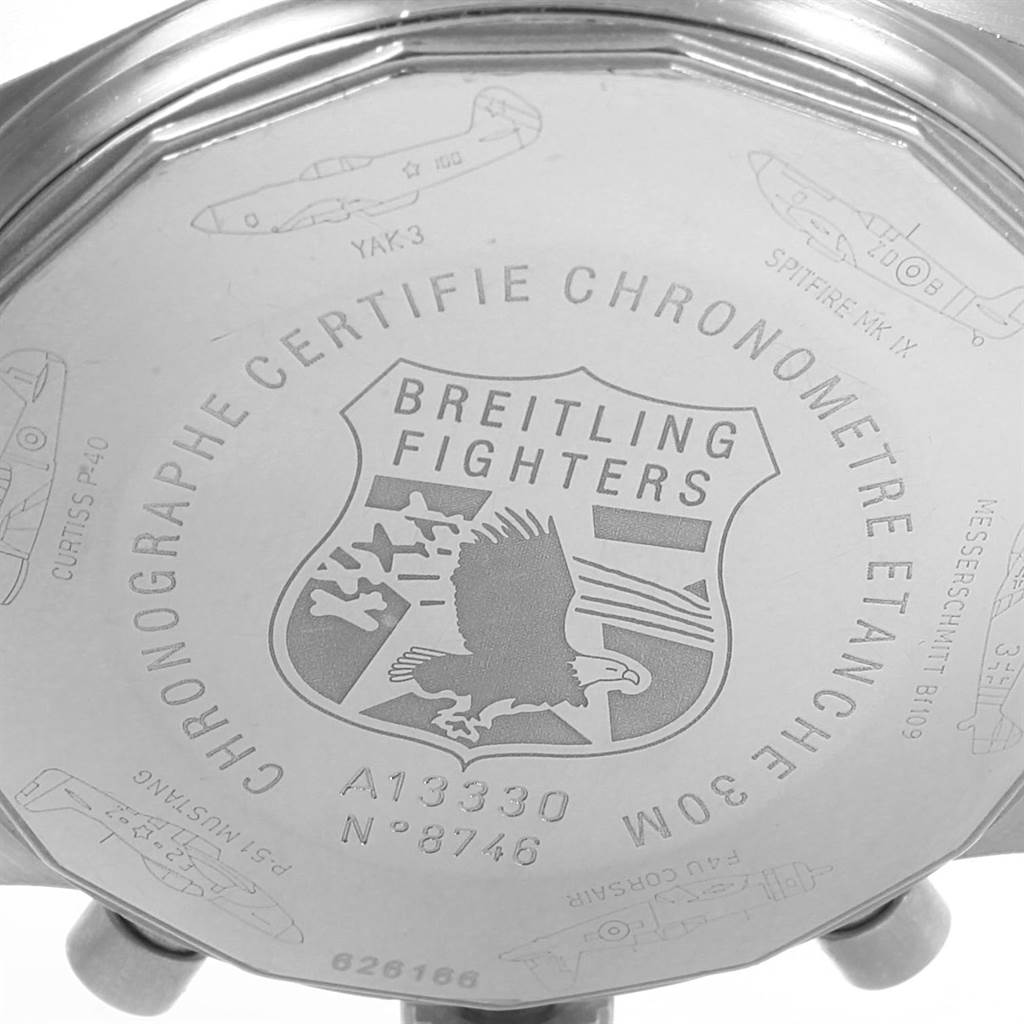 22565 Breitling Navitimer Fighter Chronograph Mens Watch A13330 Box Papers SwissWatchExpo