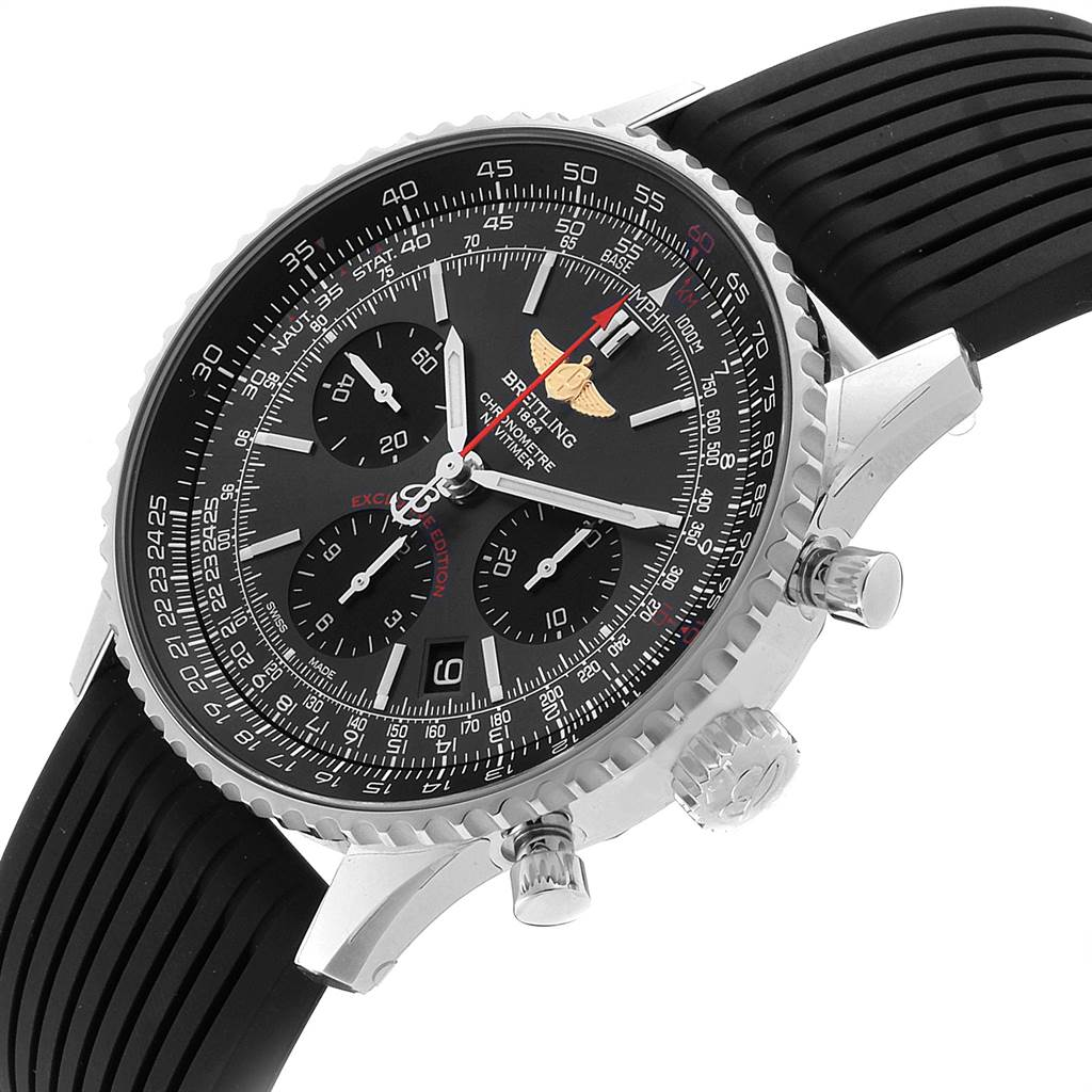 Breitling Navitimer 01 Grey Dial Limited Edition Mens Watch AB0121 Unworn SwissWatchExpo