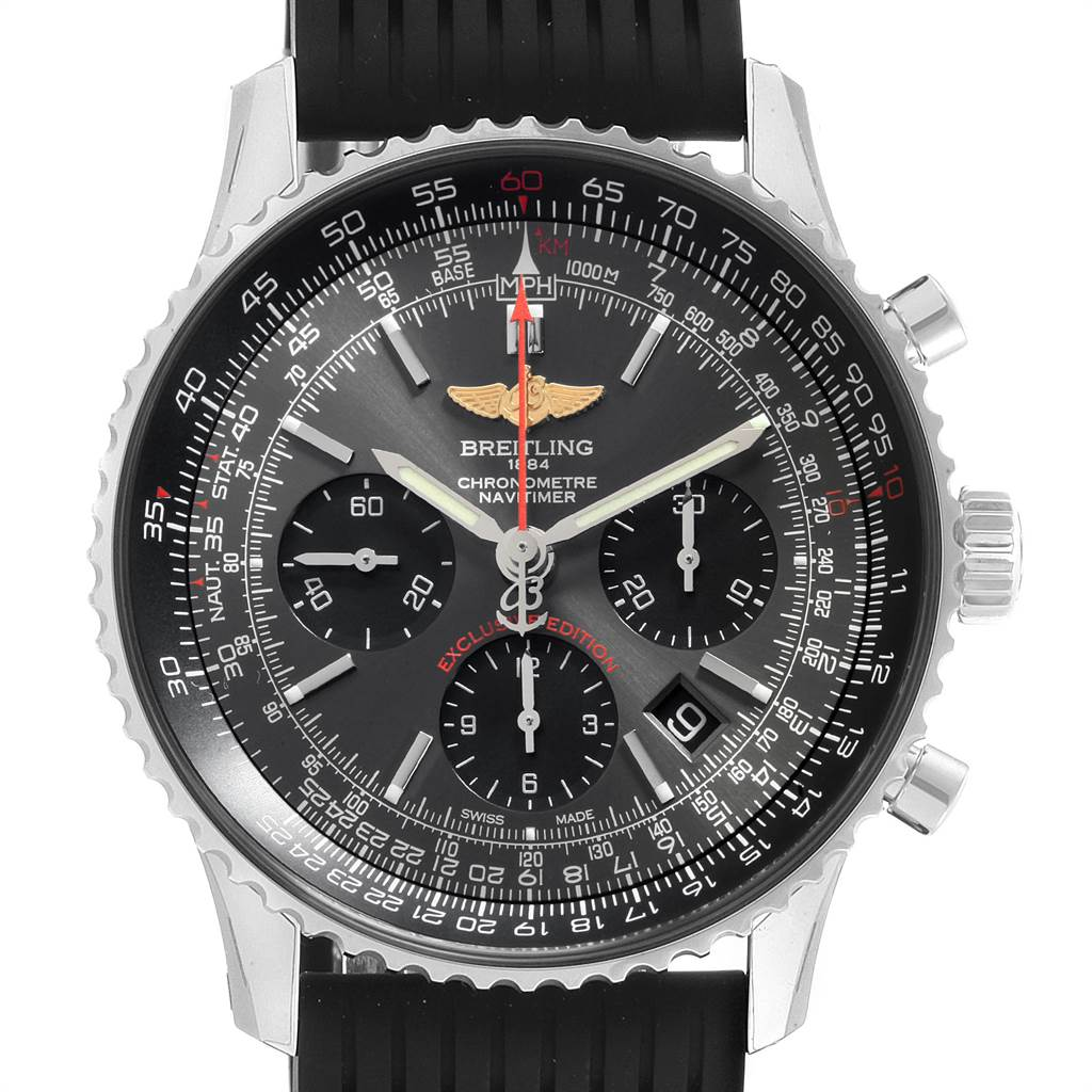22623 Breitling Navitimer 01 Grey Dial Limited Edition Mens Watch AB0121 Unworn SwissWatchExpo