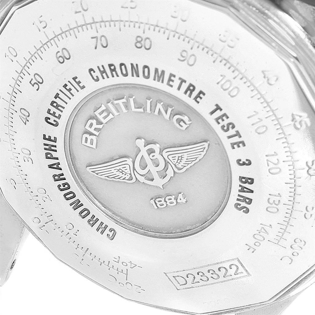 23100 Breitling Navitimer Steel Yellow Gold Brown Strap Watch D23322 Box SwissWatchExpo