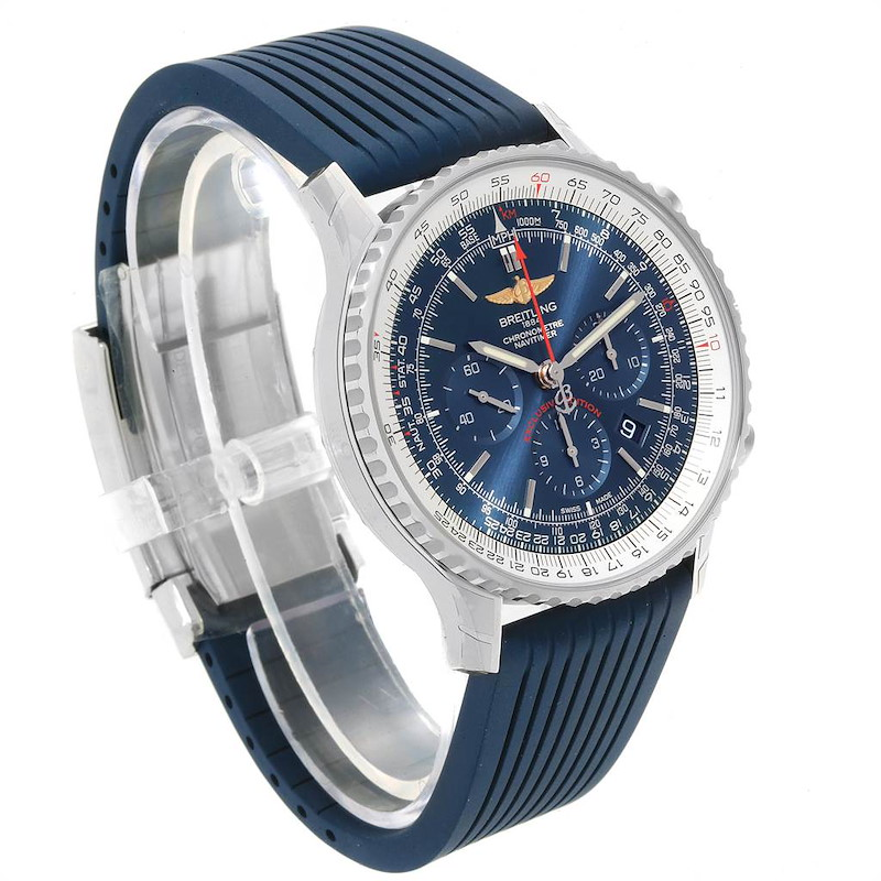 Breitling Navitimer 01 46 Blue Dial Exclusive Edition Watch AB0127 Unworn SwissWatchExpo