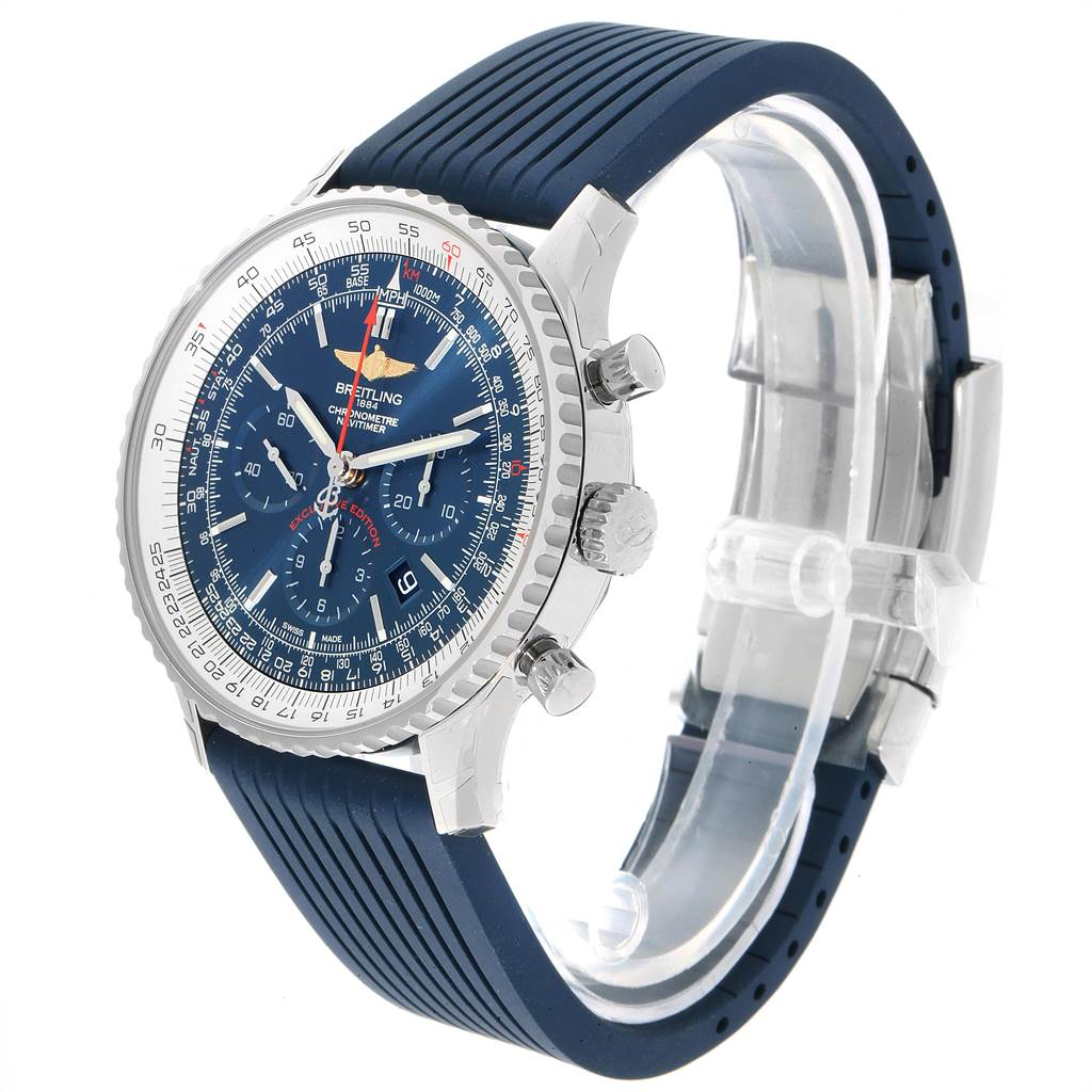 23163 Breitling Navitimer 01 46 Blue Dial Exclusive Edition Watch AB0127 Unworn SwissWatchExpo