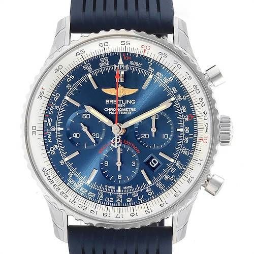 Photo of Breitling Navitimer 01 46 Blue Dial Exclusive Edition Watch AB0127 Unworn