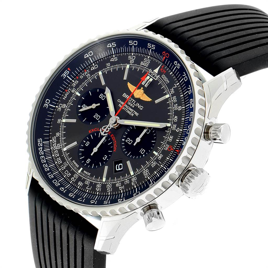 23166 Breitling Navitimer 01 Gray Dial Limited Edition Watch AB0127 Unworn SwissWatchExpo