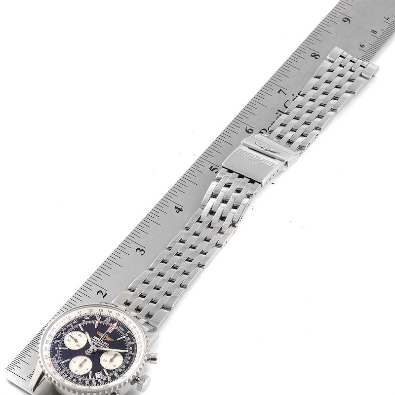 Breitling Navitimer Black Baton Dial Steel Mens Watch A23322 Box Papers SwissWatchExpo