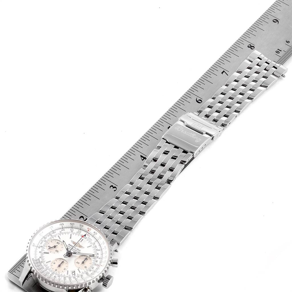 23266 Breitling Navitimer Chronograph Silver Dial Steel Mens Watch A23322 SwissWatchExpo