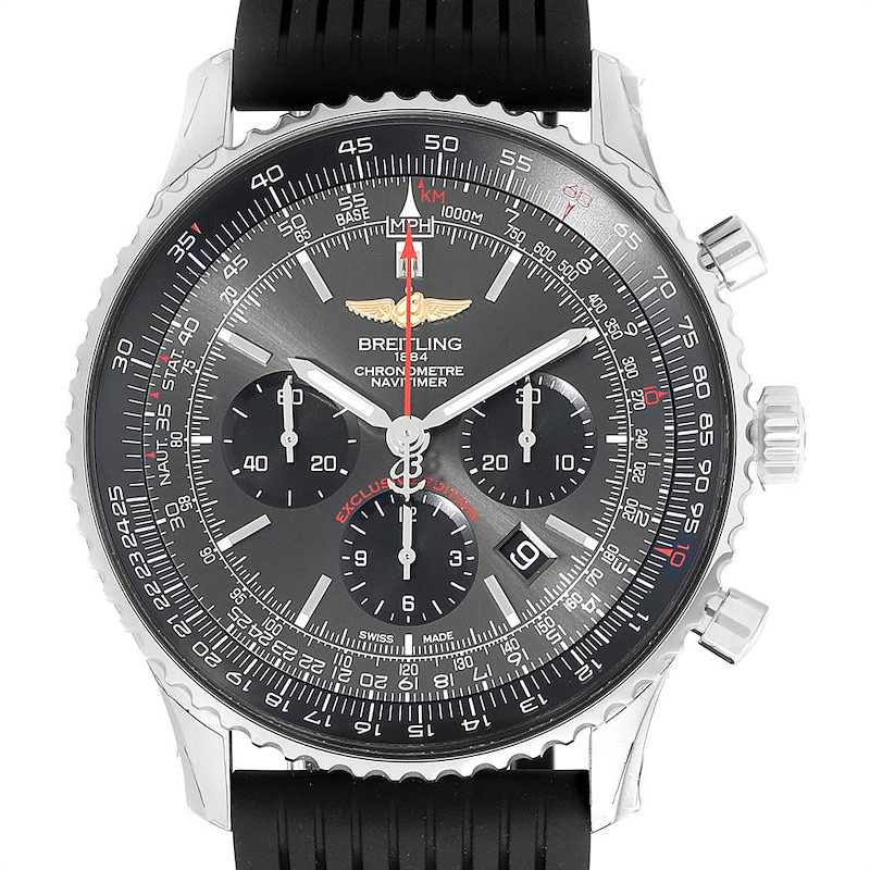 Breitling Navitimer 01 Stratos Gray Dial LE Mens Watch AB0127 Unworn SwissWatchExpo