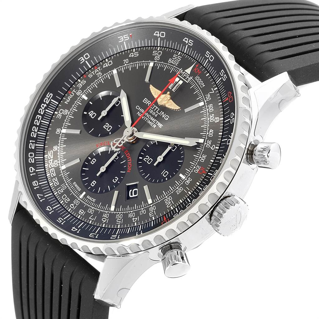 23367 Breitling Navitimer 01 Stratos Gray Dial LE Mens Watch AB0127 Unworn SwissWatchExpo