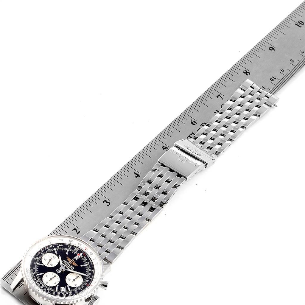 Breitling Navitimer 42mm Black Baton Dial Steel Mens Watch A23322 SwissWatchExpo