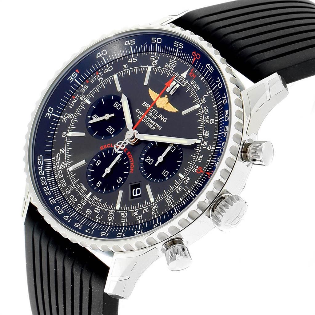 23369 Breitling Navitimer 01 Stratos Gray Dial LE Steel Watch AB0127 Unworn SwissWatchExpo