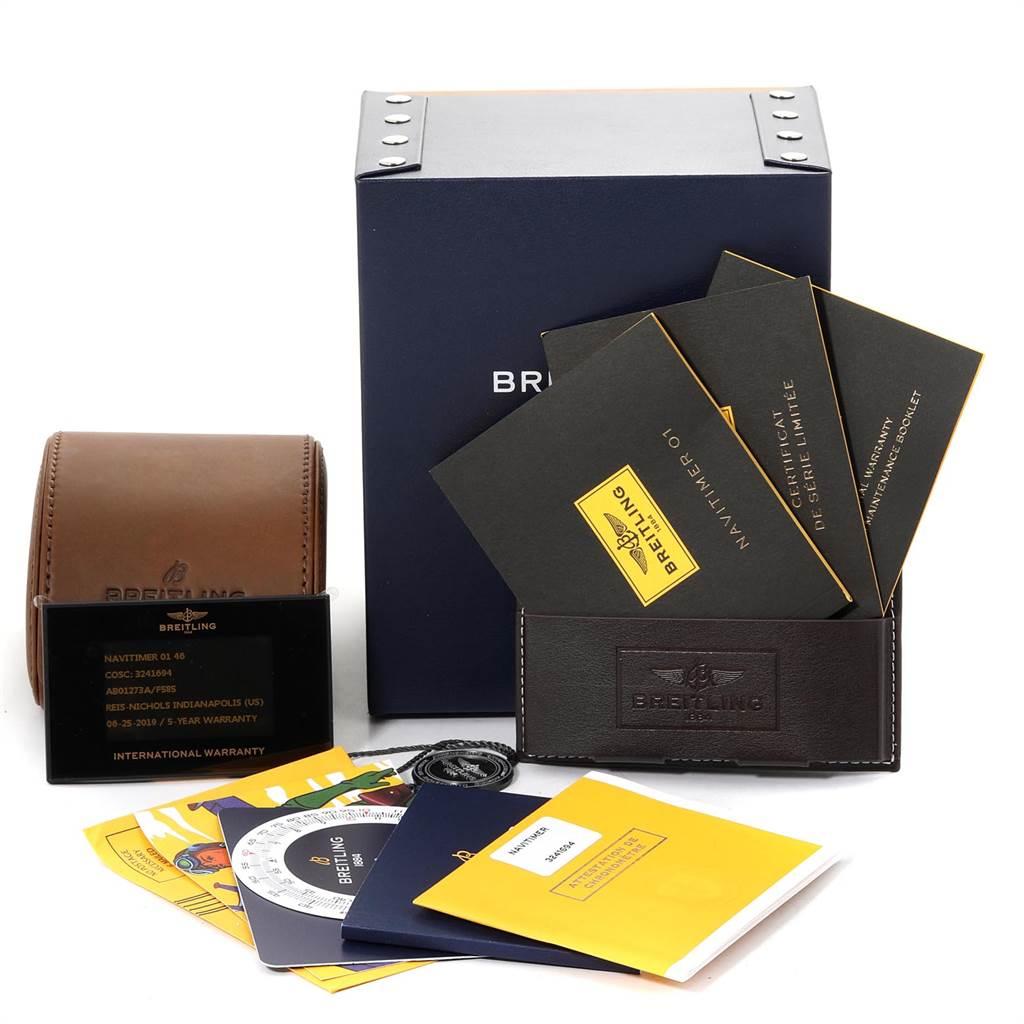 23368 Breitling Navitimer 01 Rubber Strap Limited Edition Watch AB0127 Unworn SwissWatchExpo
