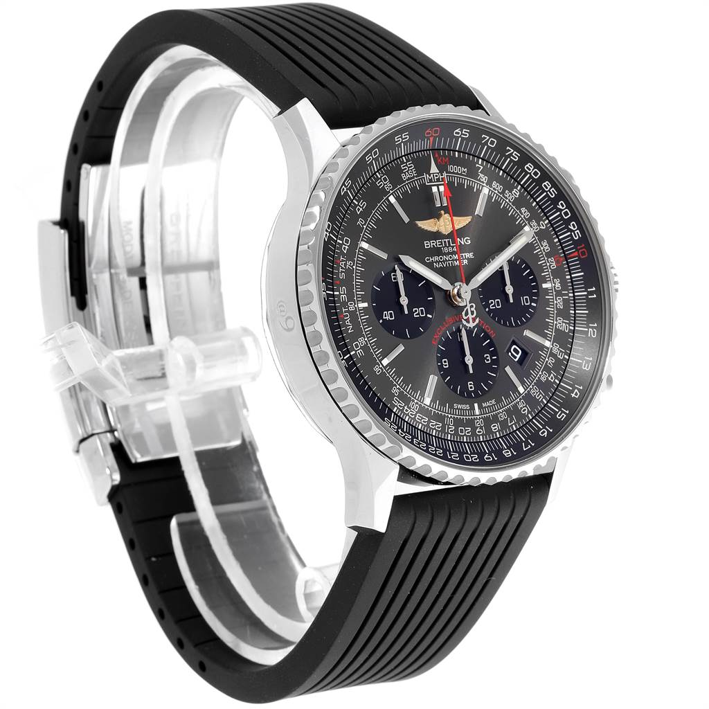 Breitling Navitimer 01 Rubber Strap Limited Edition Watch AB0127 Unworn SwissWatchExpo