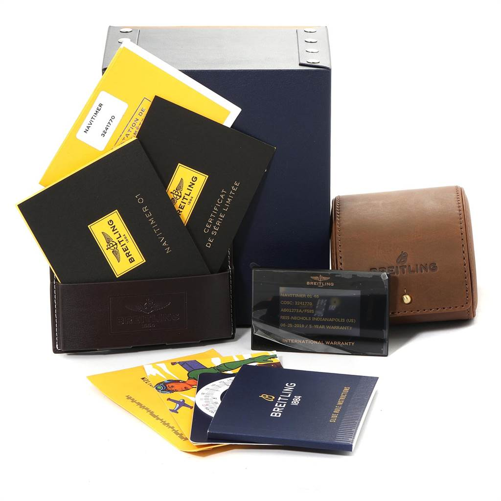 23366 Breitling Navitimer 01 Limited Eddition 46mm Mens Watch AB0127 Unworn SwissWatchExpo